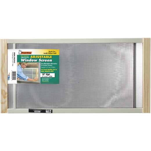 Frost King 21 to 37 In. W. x 10 In. H. Adjustable Metal Rail Screen