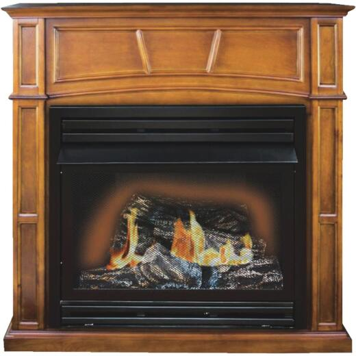 KozyWorld Heritage Oak Natural/LP Gas 1350 Sq. Ft. Gas Fireplace