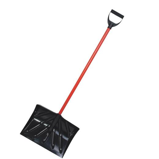 True Temper 16 In. Poly Snow Shovel & Pusher with 36 In. Steel Handle